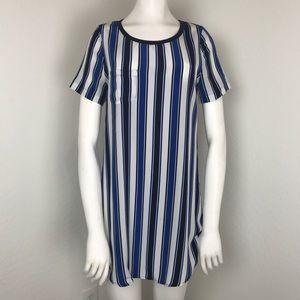 Patterson J Kincaid PJK Leona Silk Stripe Dress